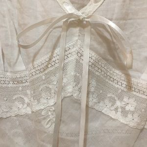 Laundry By Shelli Segal Tops - Sheer Lacy Tank Top w/ Bows &Ribbons shell buttons